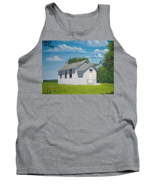 Tank Top featuring the painting Belding School by Norm Starks
