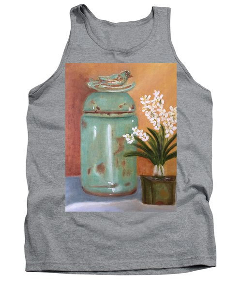Tank Top featuring the painting Bell Jar by Sharon Schultz