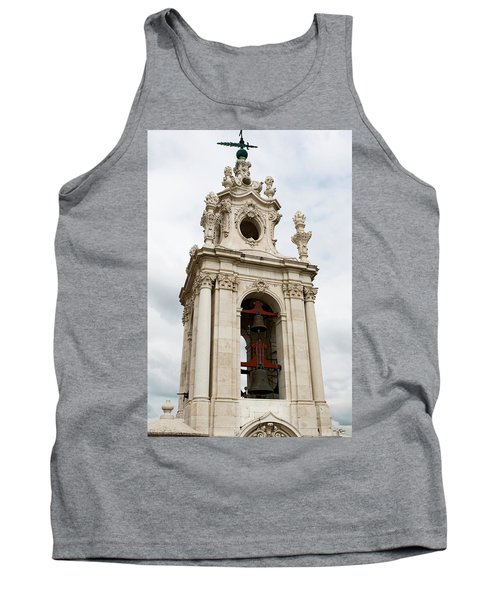 Tank Top featuring the photograph Bell Tower With Red   by Lorraine Devon Wilke
