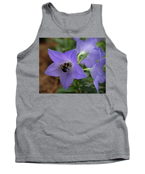 Tank Top featuring the photograph Bellflower And Bee  by Marie Hicks
