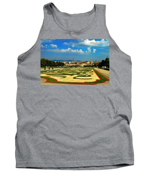 Tank Top featuring the photograph Belvedere Palace Gardens by Mariola Bitner