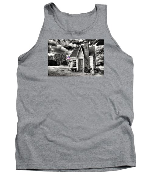 Tank Top featuring the digital art Bem Store Pumphouse by William Fields
