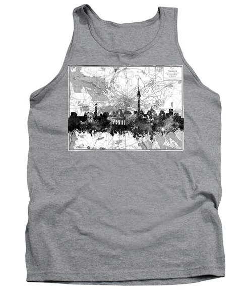 Berlin City Skyline Vintage 2 Tank Top by Bekim Art