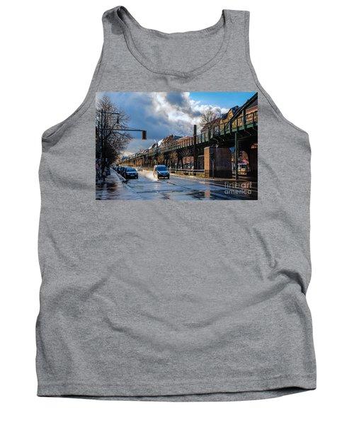 Tank Top featuring the photograph Berlin Street After Rain by Jivko Nakev