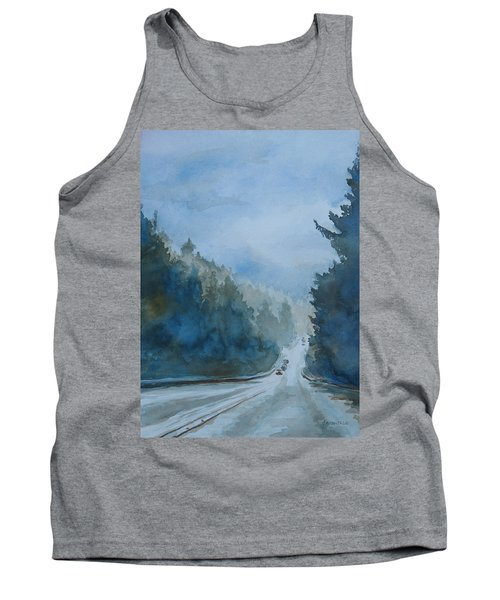 Between The Showers On Hwy 101 Tank Top
