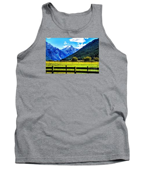 Beyond The Fence Tank Top by Rick Bragan