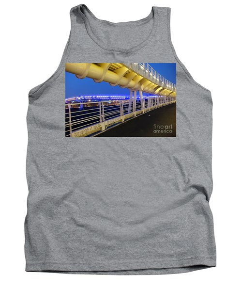 Tank Top featuring the photograph Bicycle And Pedestrian Overpass by Yali Shi