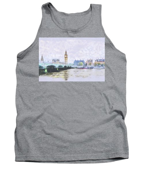 Big Ben And Westminster Bridge London England Tank Top