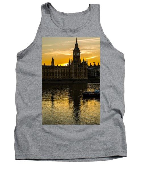 Big Ben Tower Golden Hour In London Tank Top