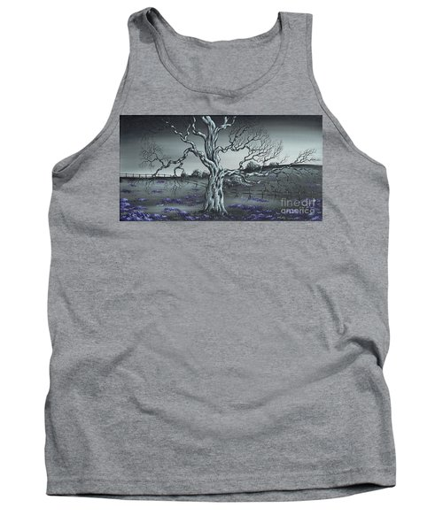 Tank Top featuring the painting Big Old Tree by Kenneth Clarke