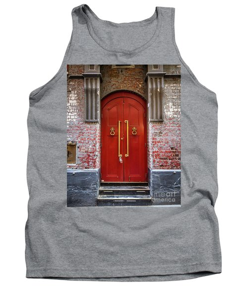 Tank Top featuring the photograph Big Red Doors by Perry Webster
