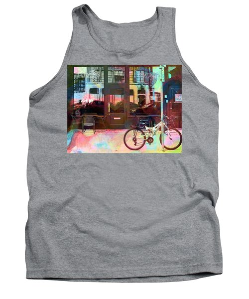 Tank Top featuring the digital art Bike Ride To Runyons by Susan Stone