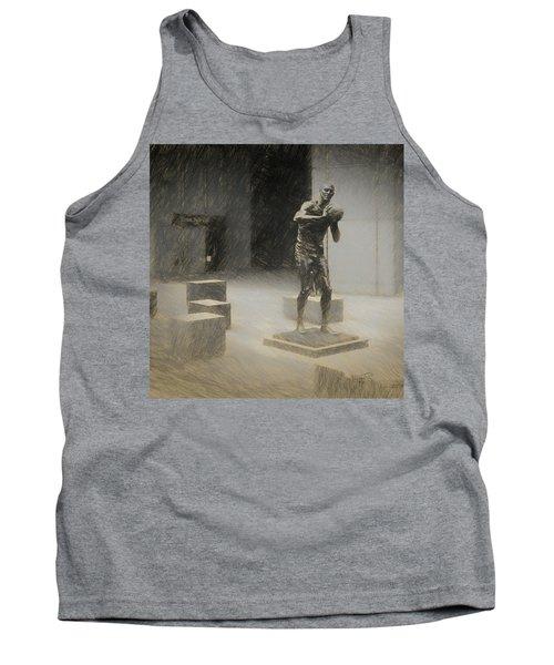 Bill Russell Statue Tank Top