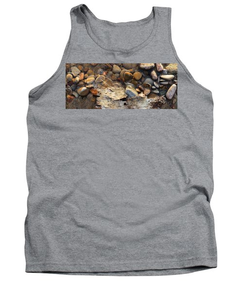 Birch Bark And Ice In The Creek Four  Tank Top