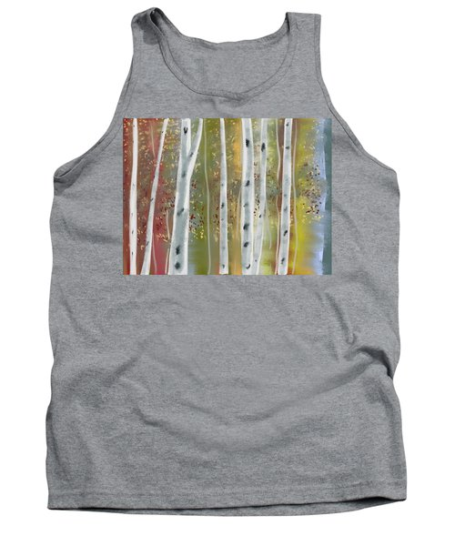 Birch Forest Tank Top by Paula Brown