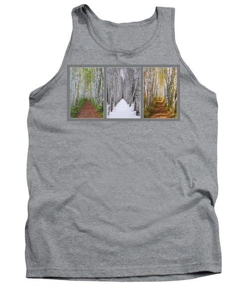 Birch Path Three Season Collage Tank Top