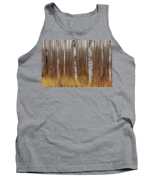 Birch Trees Abstract #2 Tank Top