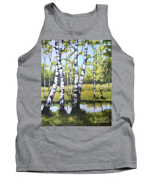 Birches In Spring Mood Tank Top by Inese Poga