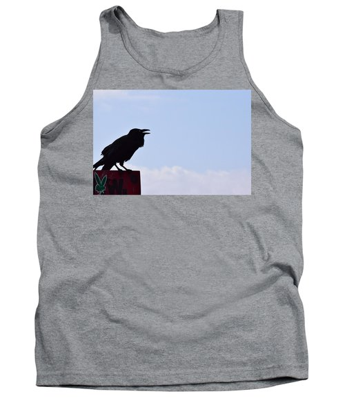 Crow Profile Tank Top by Sandy Taylor
