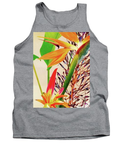 Birds Bromeliads Halyconia Tank Top