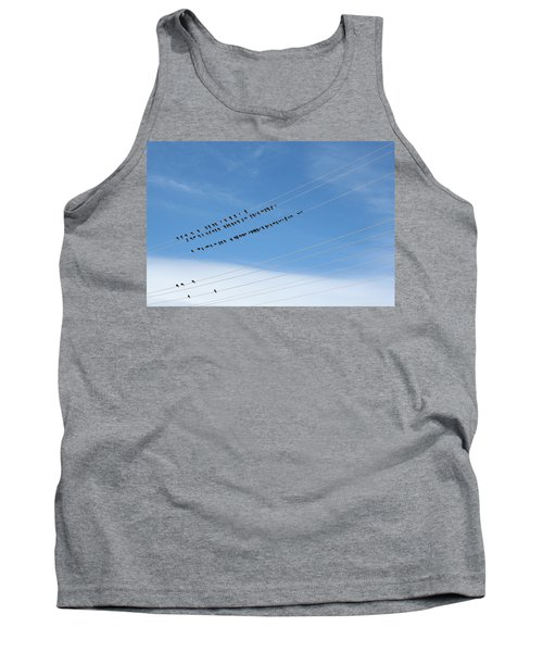 Birds On Wires Tank Top