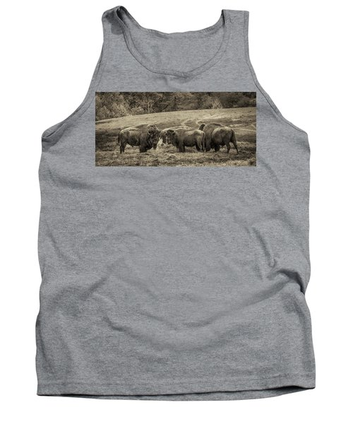 Tank Top featuring the photograph Bison 1 - Pano by Joye Ardyn Durham