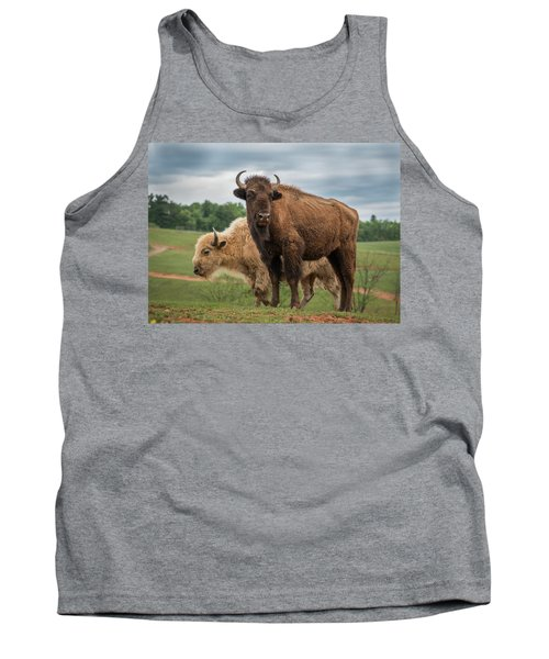 Tank Top featuring the photograph Bison 10 by Joye Ardyn Durham