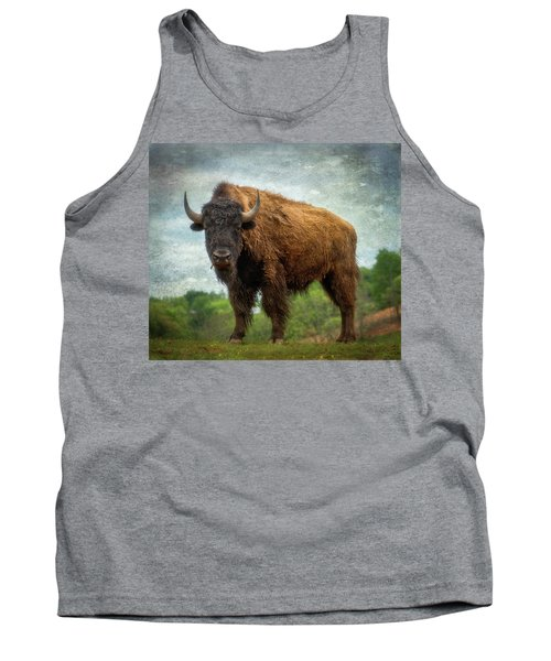Tank Top featuring the photograph Bison 9 by Joye Ardyn Durham