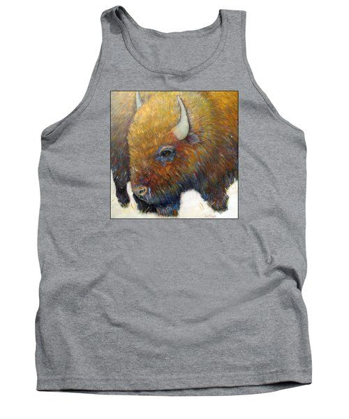 Bison For T-shirts And Accessories Tank Top by Loretta Luglio