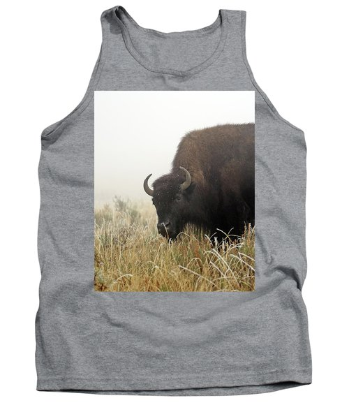 Bison In The Frosty Morning Tank Top