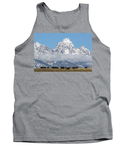 Bison In The Tetons Tank Top