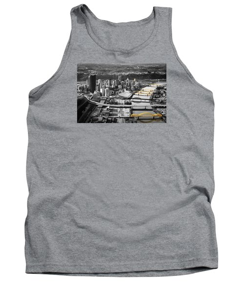 Black And Gold Pittsburgh  Tank Top by Emmanuel Panagiotakis