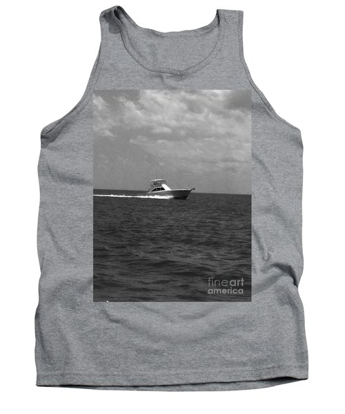 Black And White Boating Tank Top by WaLdEmAr BoRrErO