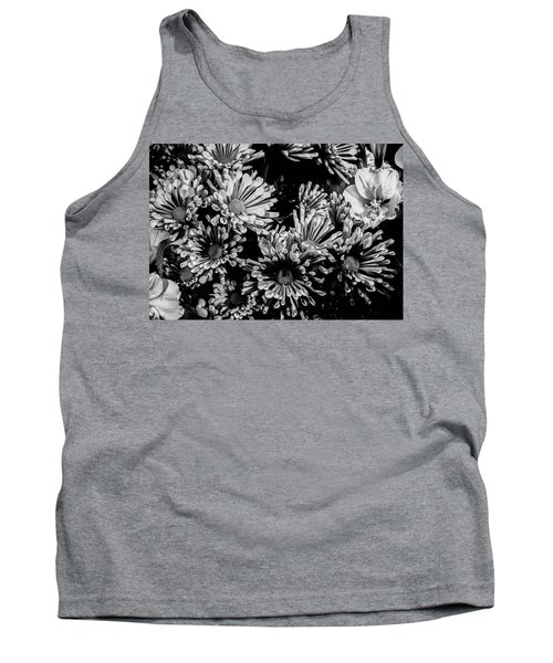 Black And White Bouquet Tank Top