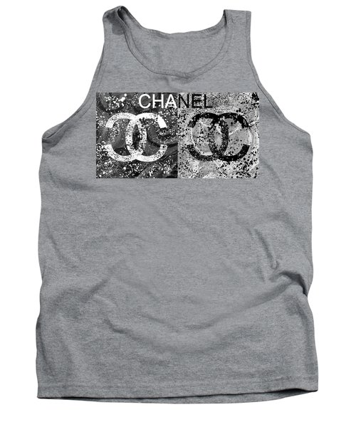 Black And White Chanel Art Tank Top