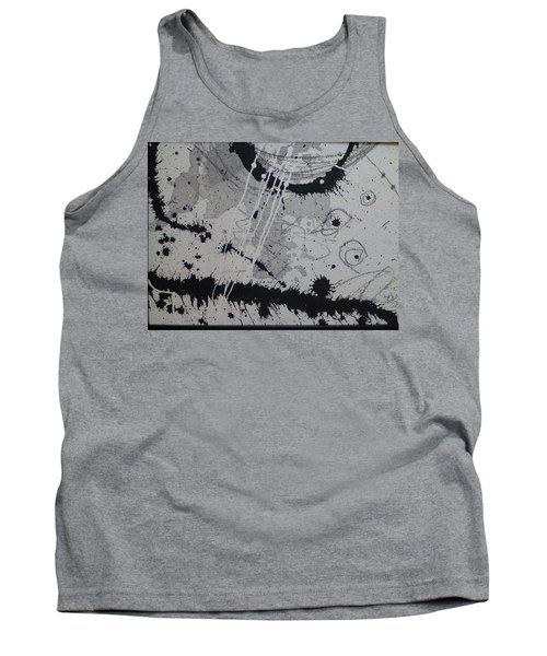 Black And White Four Tank Top by Tracy Bonin