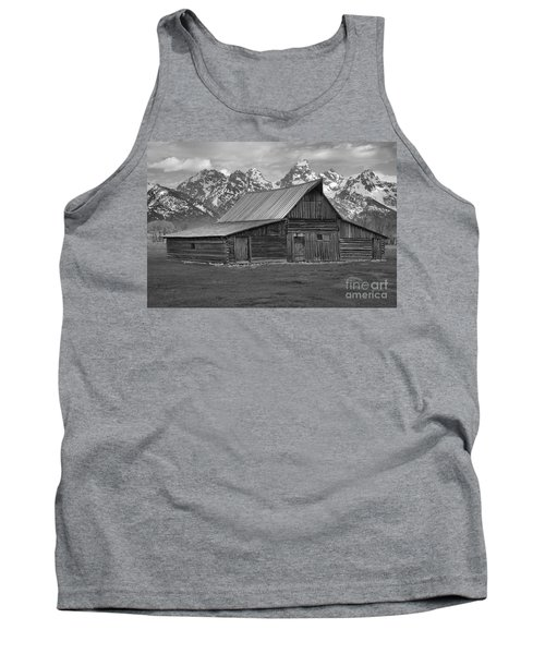 Black And White Mormon Row Barn Tank Top by Adam Jewell