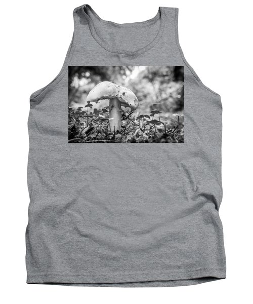 Black And White Mushroom. Tank Top