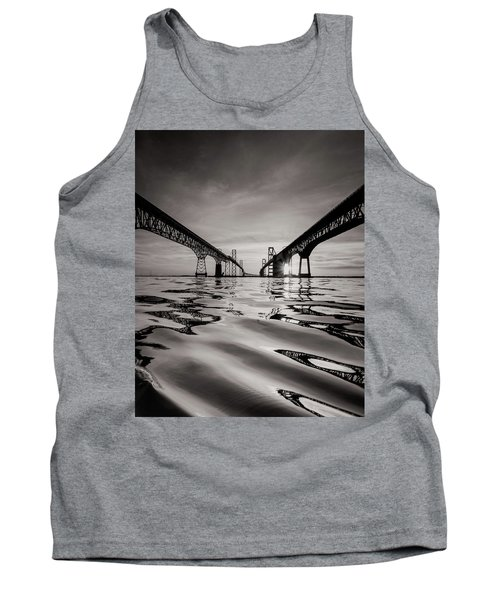 Tank Top featuring the photograph Black And White Reflections by Jennifer Casey