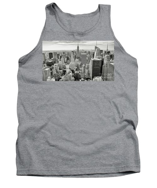 Tank Top featuring the photograph Black And White Skyline by MGL Meiklejohn Graphics Licensing