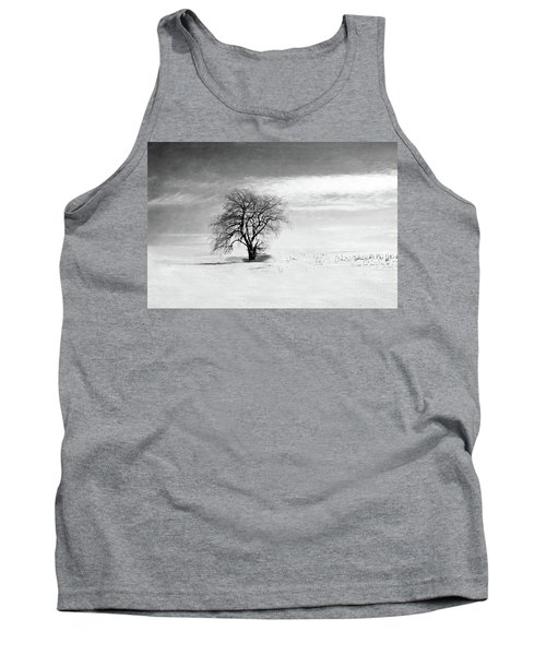 Black And White Tree In Winter Tank Top by Brooke T Ryan