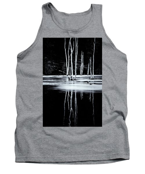 Black And White Winter Thaw Relections Tank Top