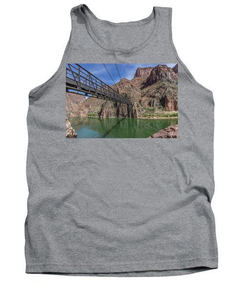 Black Bridge Over The Colorado River At Bottom Of Grand Canyon Tank Top