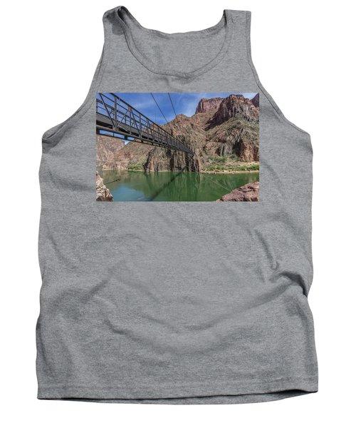 Black Bridge Over The Colorado River At Bottom Of Grand Canyon Tank Top