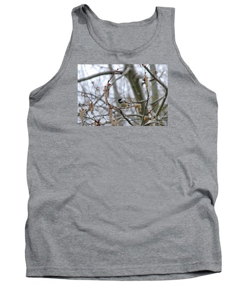 Tank Top featuring the photograph Black-capped Chickadee 20120321_38a by Tina Hopkins