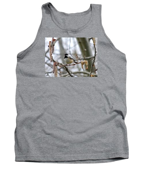Tank Top featuring the photograph Black-capped Chickadee 20120321_39a by Tina Hopkins