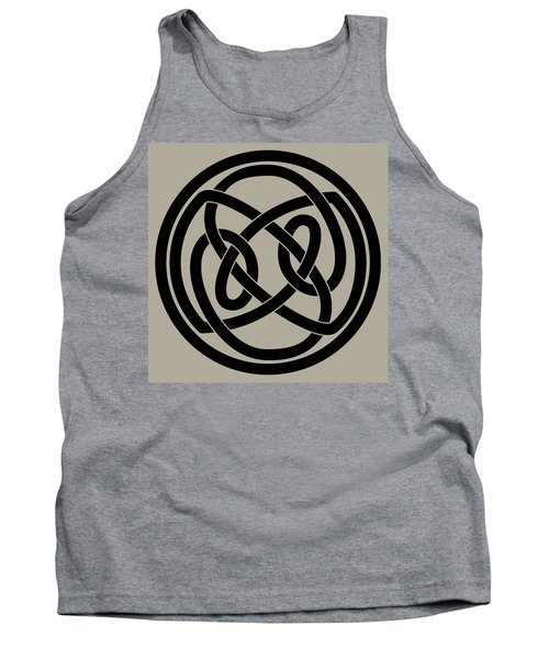 Tank Top featuring the digital art Black Celtic Knot by Jane McIlroy