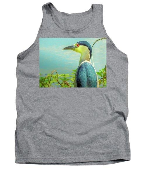 Black-crowned Night Heron Digital Art Tank Top