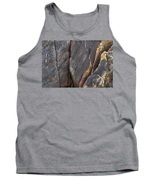 Black Granite Abstract Two Tank Top