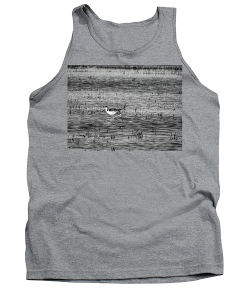Black-necked Stilt Monochrome  Tank Top